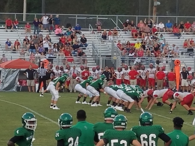 Football team scrimmages against Pike County