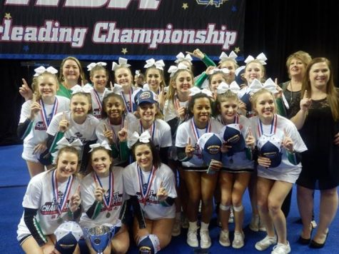 Competition cheer team wins state