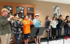 Band members perform for students before school