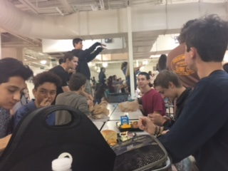Students surprised at lunch by flash mob
