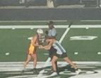 Junior Delayne Barro faces off against Holly Innocents Episcopal.