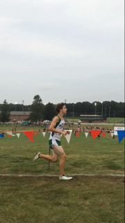 Freshman Shane Karafanda competes in the Carrolton meet on Saturday, Sept. 12.