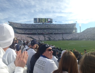 Penn State's stadium, Beaver Stadium, had an attendance of 107, 418 against the Michigan Wolverines.