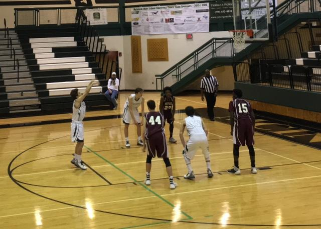 Freshman+Nick+Pruner+nails+last+minute+free+throws+to+guarantee+the+win+for+the+Chiefs.+