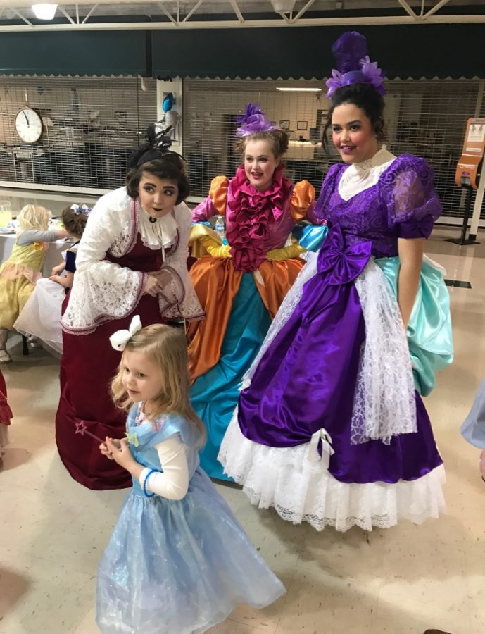 Cinderella cast holds tea party