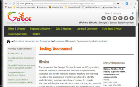 The Georgia Department of Education website is home to a page dedicated to explaining the purpose of testing.
