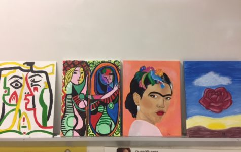Students in Spanish class replicate famous paintings