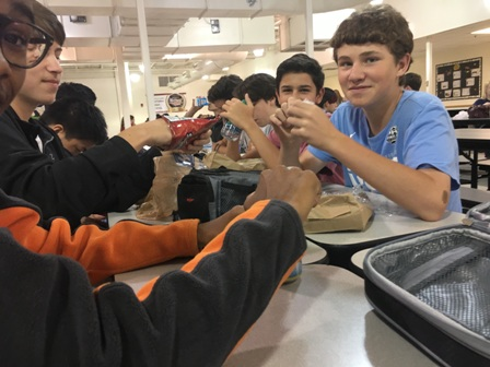 Students enjoy one of their last lunches together as the school year winds down.