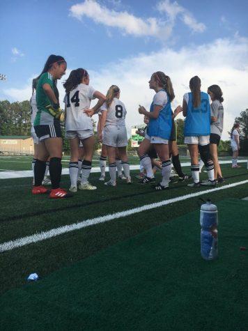 Men's varsity soccer team takes on Cross Keys and Riverwood High School