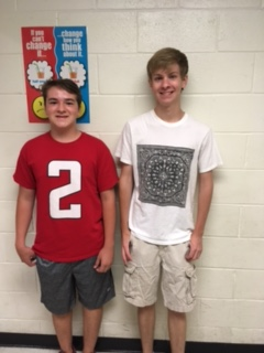 Brett Goss (left) and Duffy Weldon (right) are the 2017 marching band drum majors.