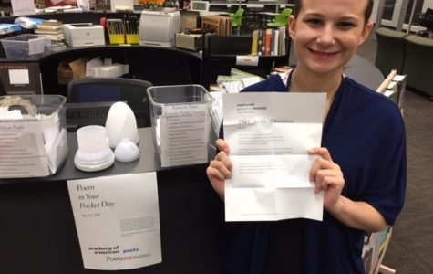 "Library celebrates national ""Poem in Your Pocket"" Day"