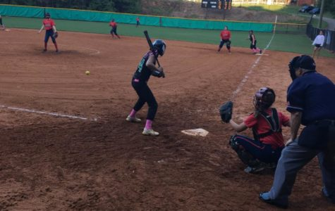 Softball Team Supports Breast Cancer in Game Against Sandy Creek