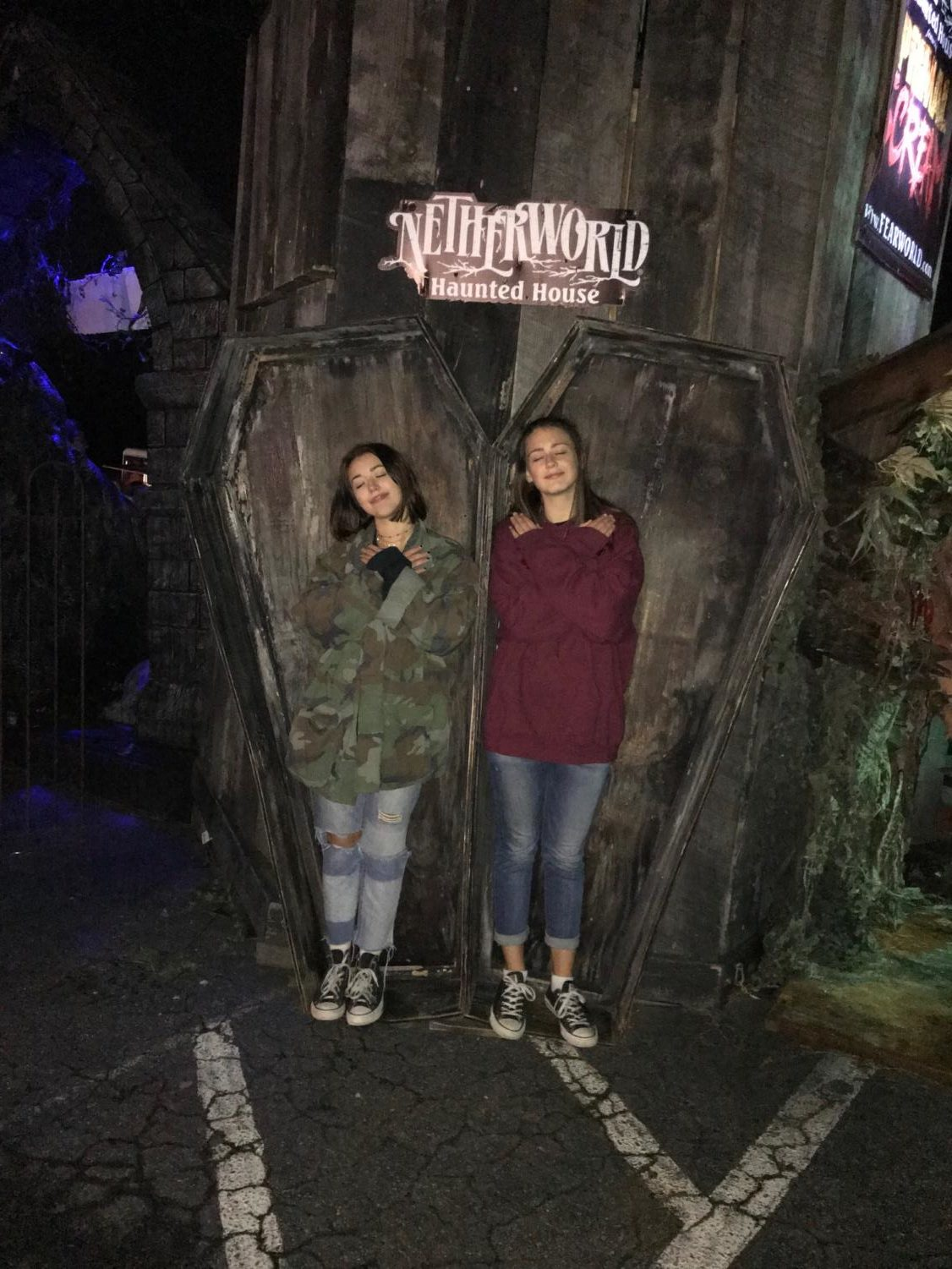 Junior Kara Harbin and sophomore Sammy Post visit Netherworld.
