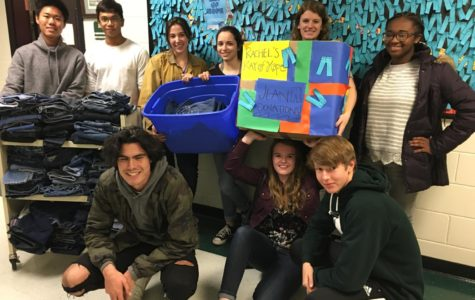 National Honor Society members collect jeans for Rachel's Ray of Hope.