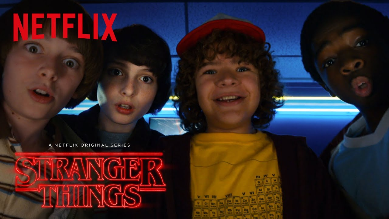 One of the teaser images that greet viewers as they prepare to binge watch Stranger Things 2.