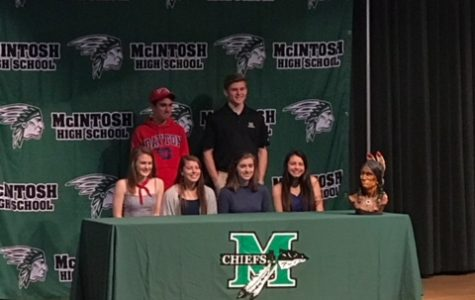 McIntosh student athletes came together on Wednesday, February 7 for National Signing Day.
