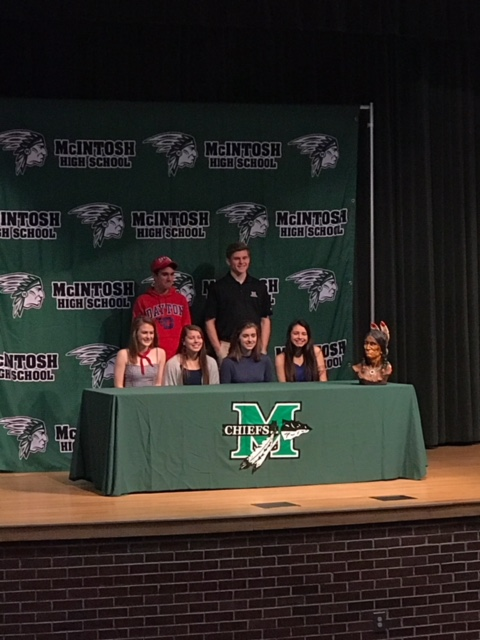 McIntosh+student+athletes+came+together+on+Wednesday%2C+February+7+for+National+Signing+Day.