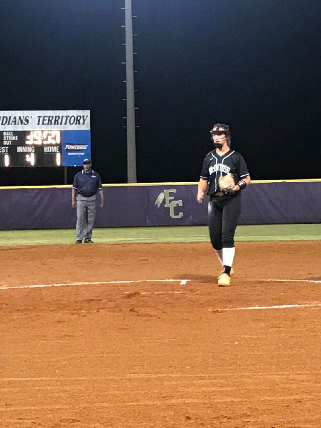 Sophomore Rebecca Muh pitches at an East Coweta tournament. The team finished 0-3 in the tournament, but Muh added up more strike outs on her record for the season. Muh said,