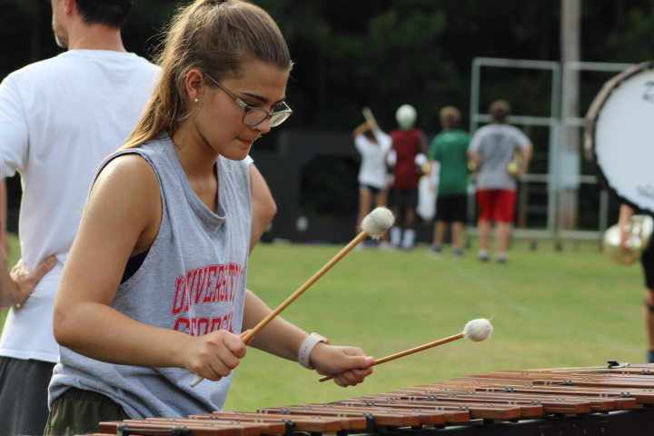 Marching Band Competes in First Competition of the Season
