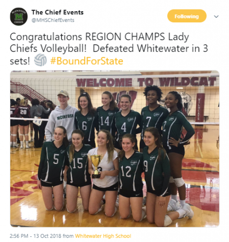 Varsity Volleyball enters state tournament
