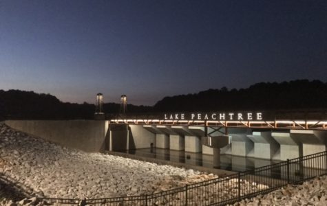 Taken at the new Lake Peachtree spillway on Kelly Dr.