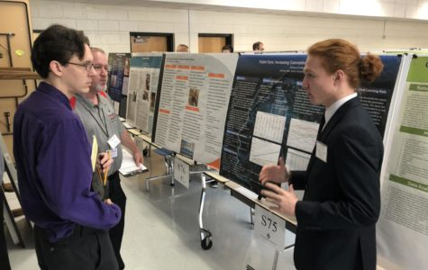 Students presenting their projects at the Regional Science Fair at Griffin RESA. Photos by Seth Bishop.
