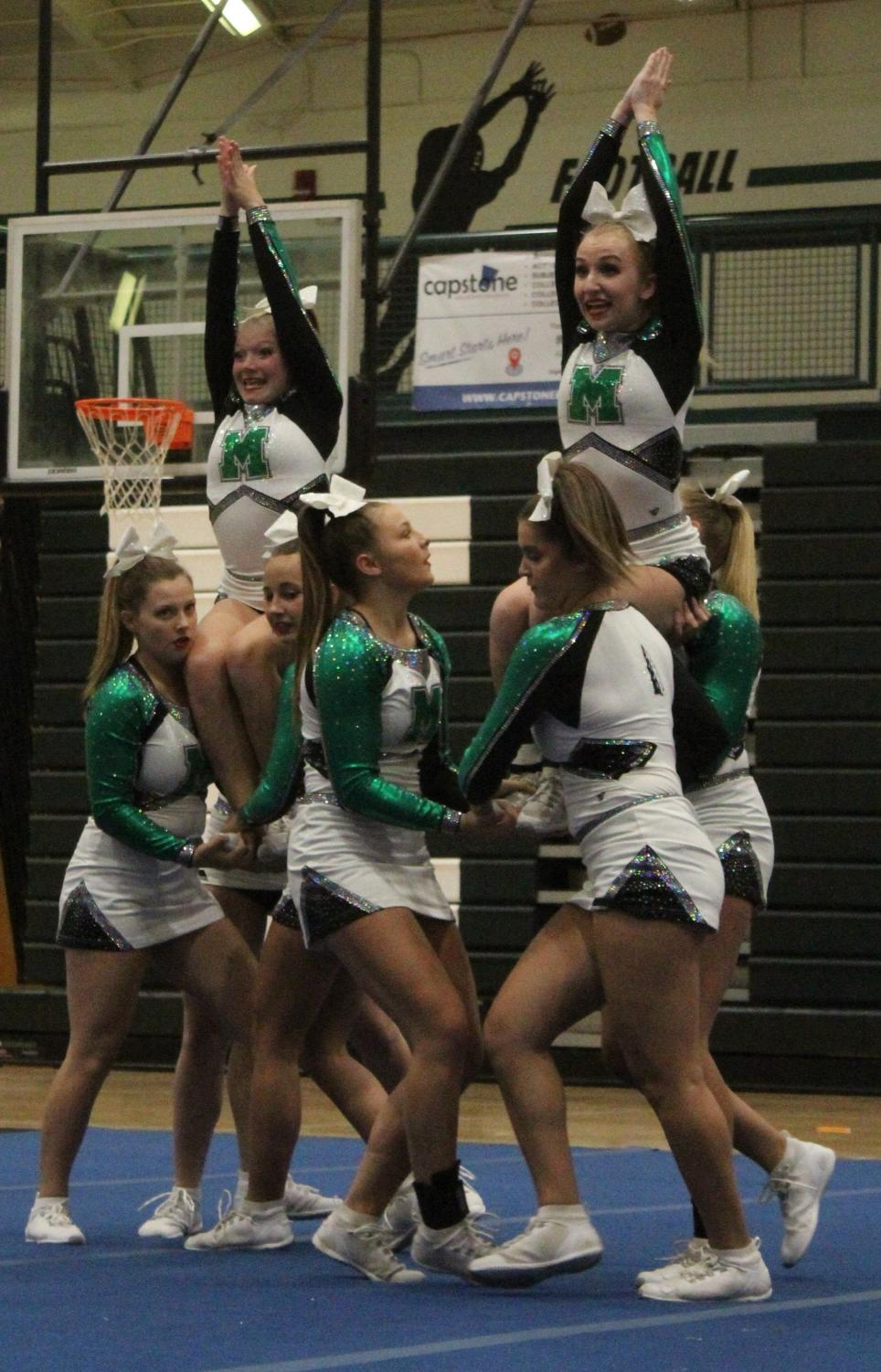 Cheerleaders Come Out on Top in 1st Competition of the Season