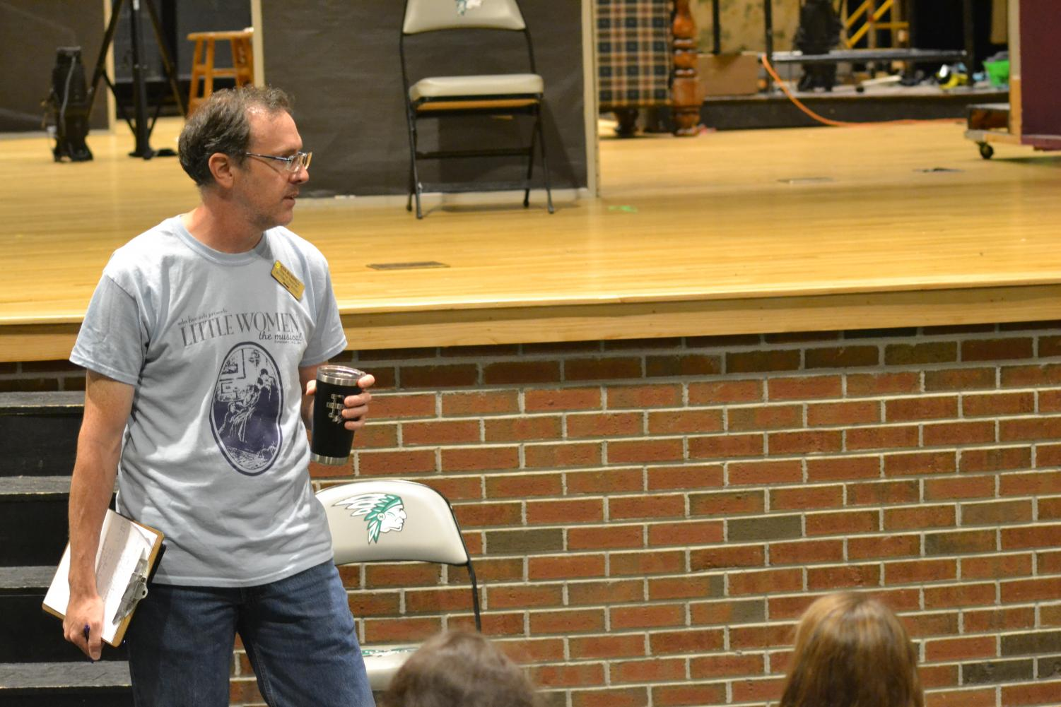 Drama Teacher Ken Buswell explains to the auditionees. the way the audition will be structuredd.