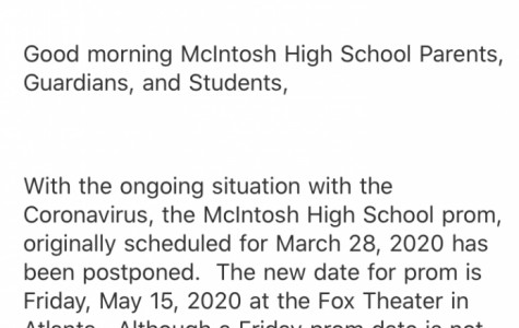 UPDATE: McIntosh Prom Rescheduled for May 15 Due to School Closure