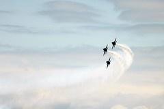 Blue Angels plane flyover.
