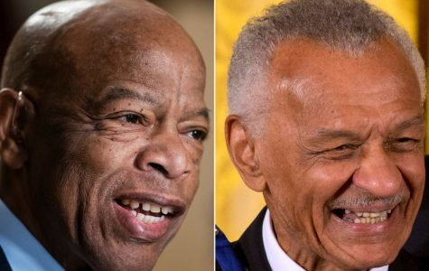 Photo of U.S. Congressman  John Robert Lewis and Rev. Cordy Tindell Vivian who both died on Fri. July 17 and were leaders in the Civil Rights Movement.