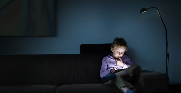 Blue light exposure is most harmful at night through the use of screens that don