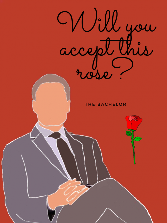 A cartoon picture of Bachelor host, Chris Harrison, who has made concerning statements regarding racist allegations towards one of the contestants of Season 25.