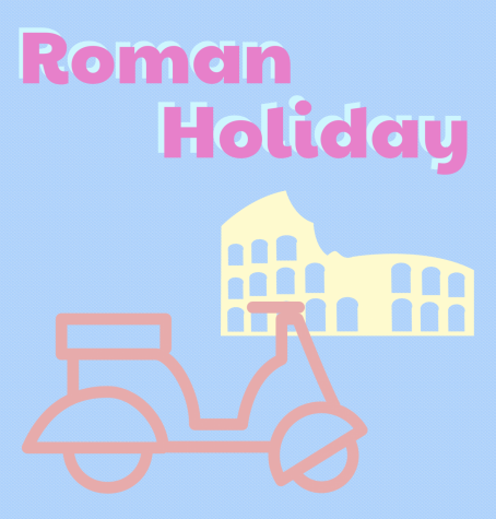 Interpretation of Roman Holiday as a poster
