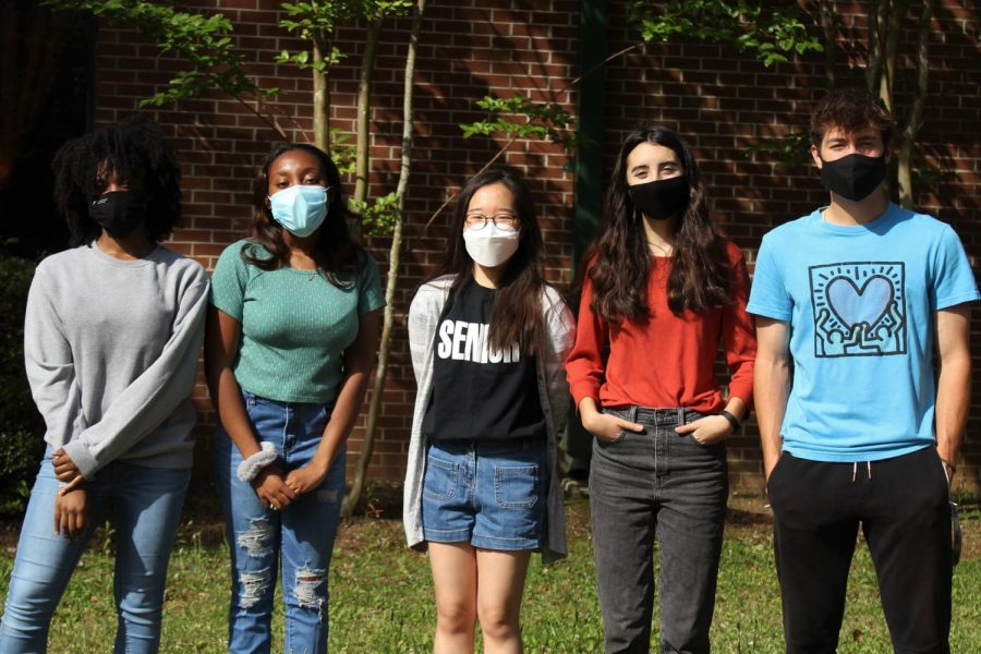 These are the winners of NSPA from the McIntosh Trail. Here pictured is Nakia Harmon (11), Jordyn Mobley (11), Yunju Lee (12), Izzy Pullias (11) and Landon Wilde (11).