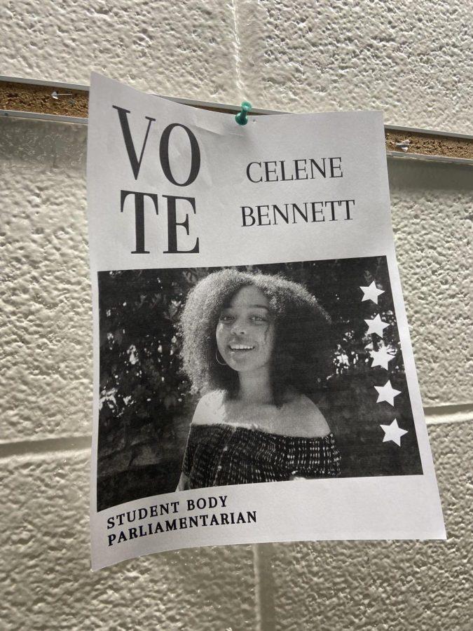 Celene Bennetts campaign poster.