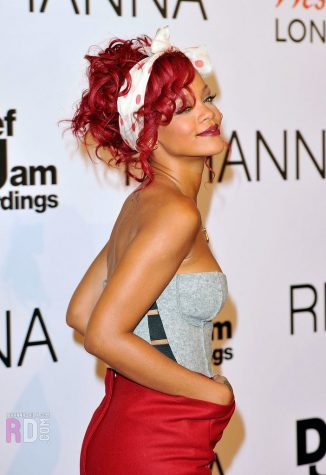 Rihanna in 2010 at Westfield in London for a show
