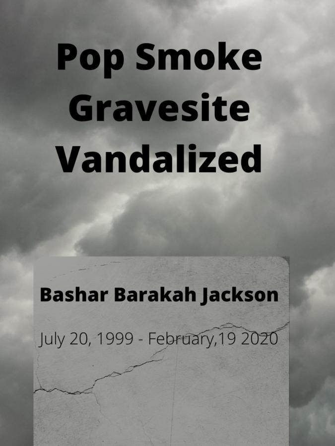 Pop Smokes Gravesite Vandalized